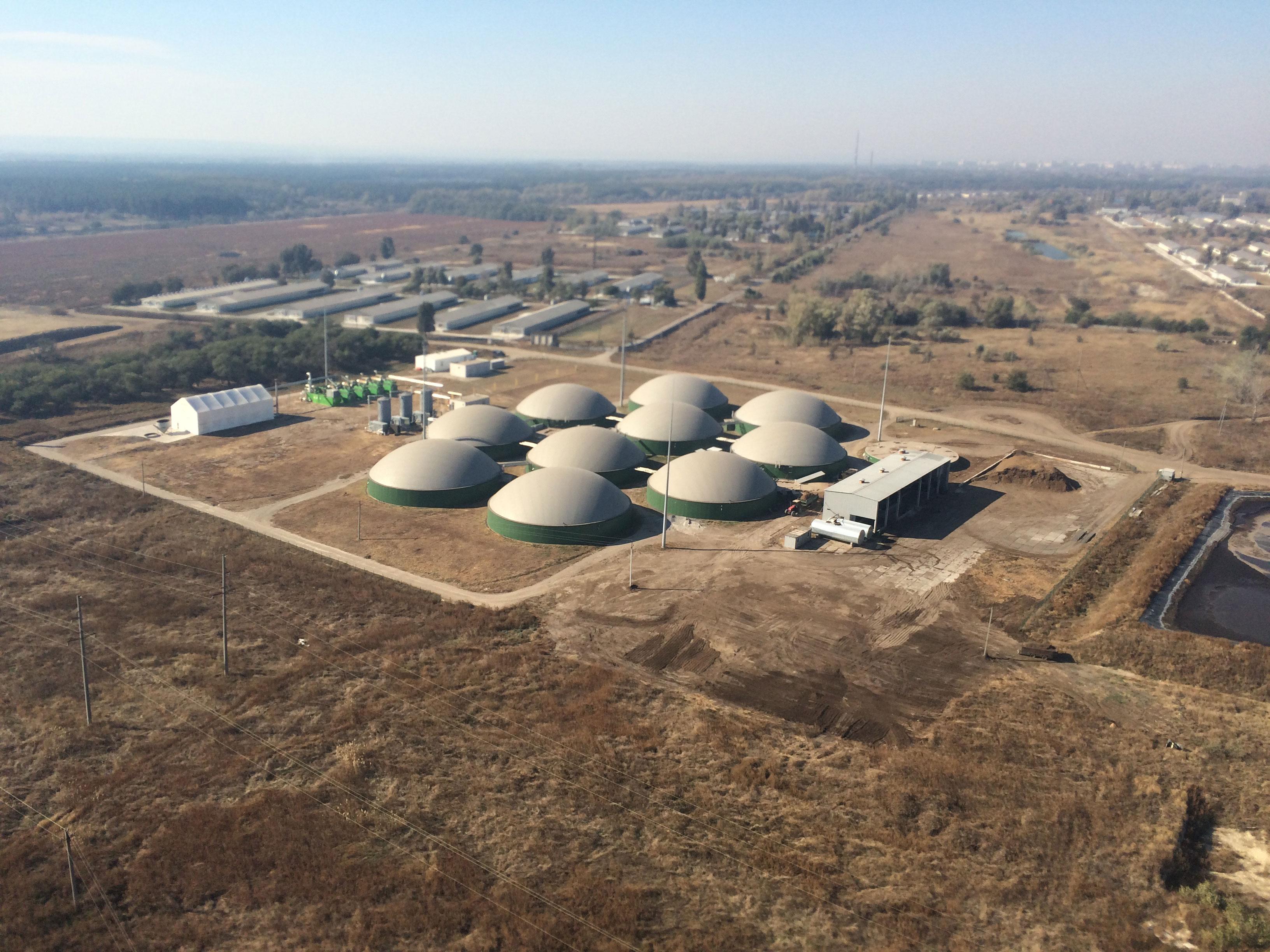 Комплектация установки для производства биогаза