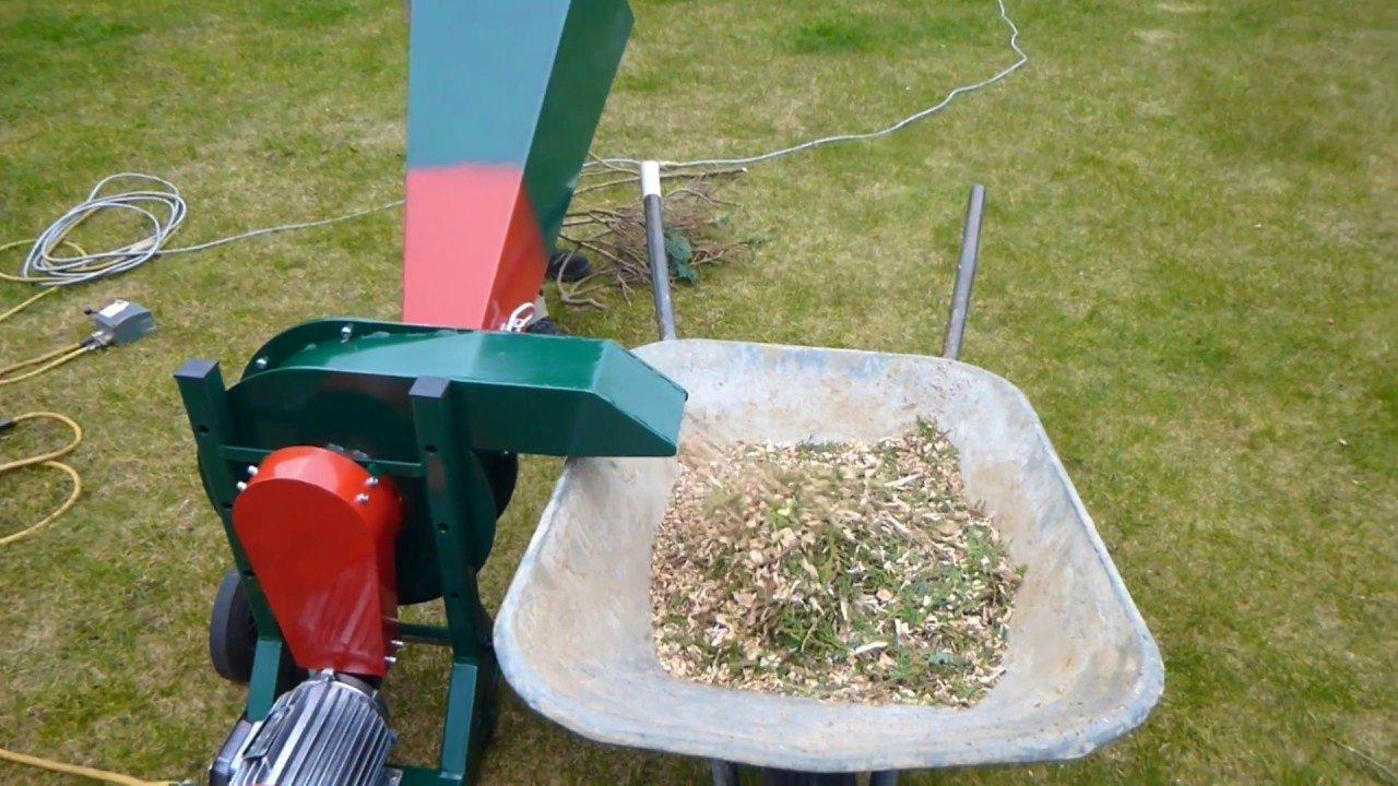 Устройство измельчителя садового мусора