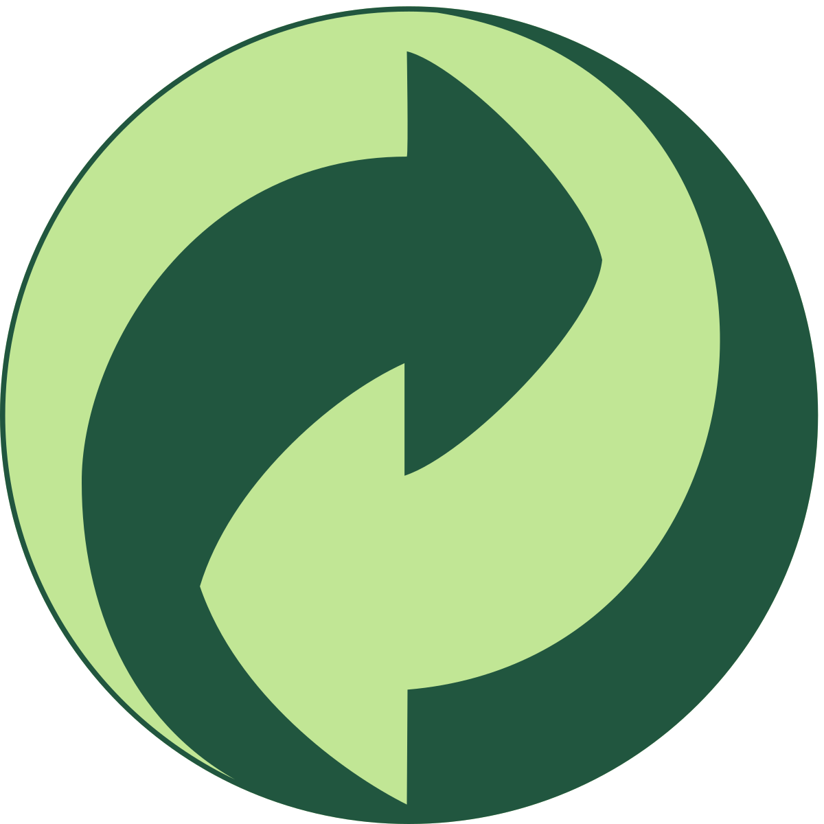 Знак переработки Зеленая точка