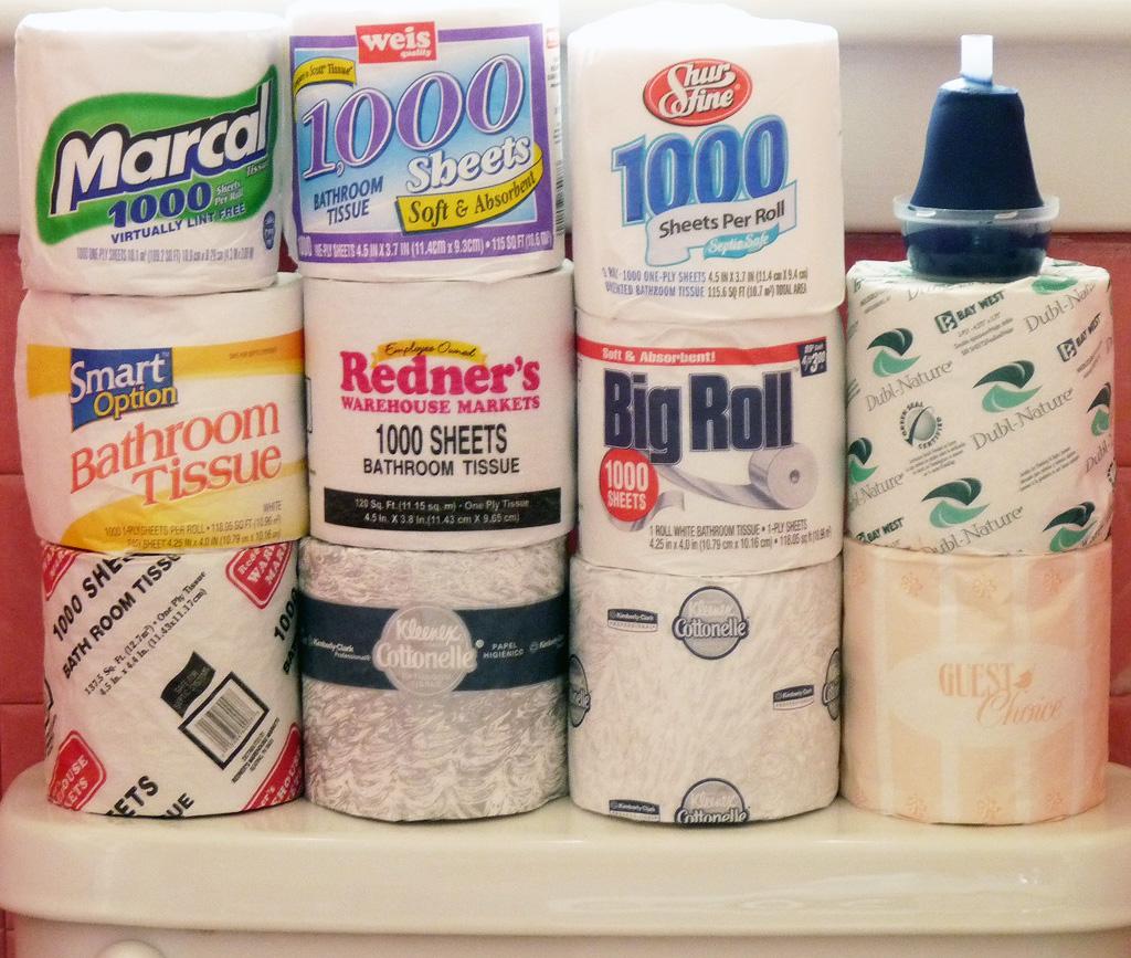 Ассортимент туалетной бумаги