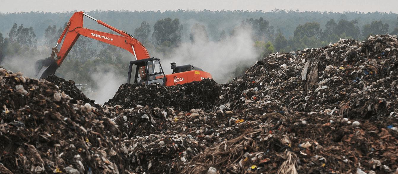 Захоронение отходов на полигоне