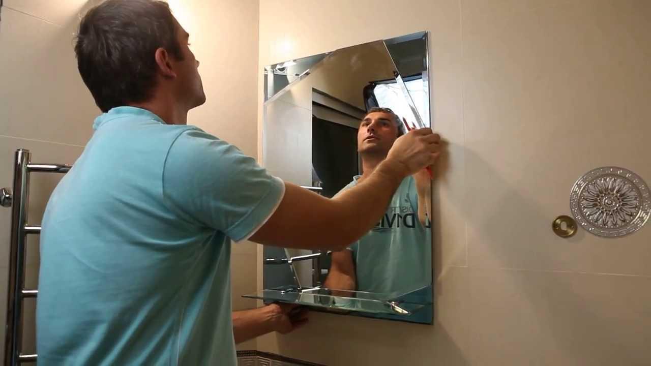 Утилизация зеркала специалистом