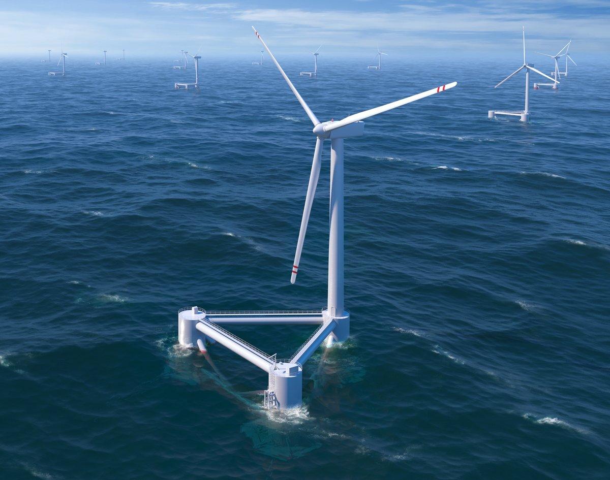 плавающие ветряные электростанции