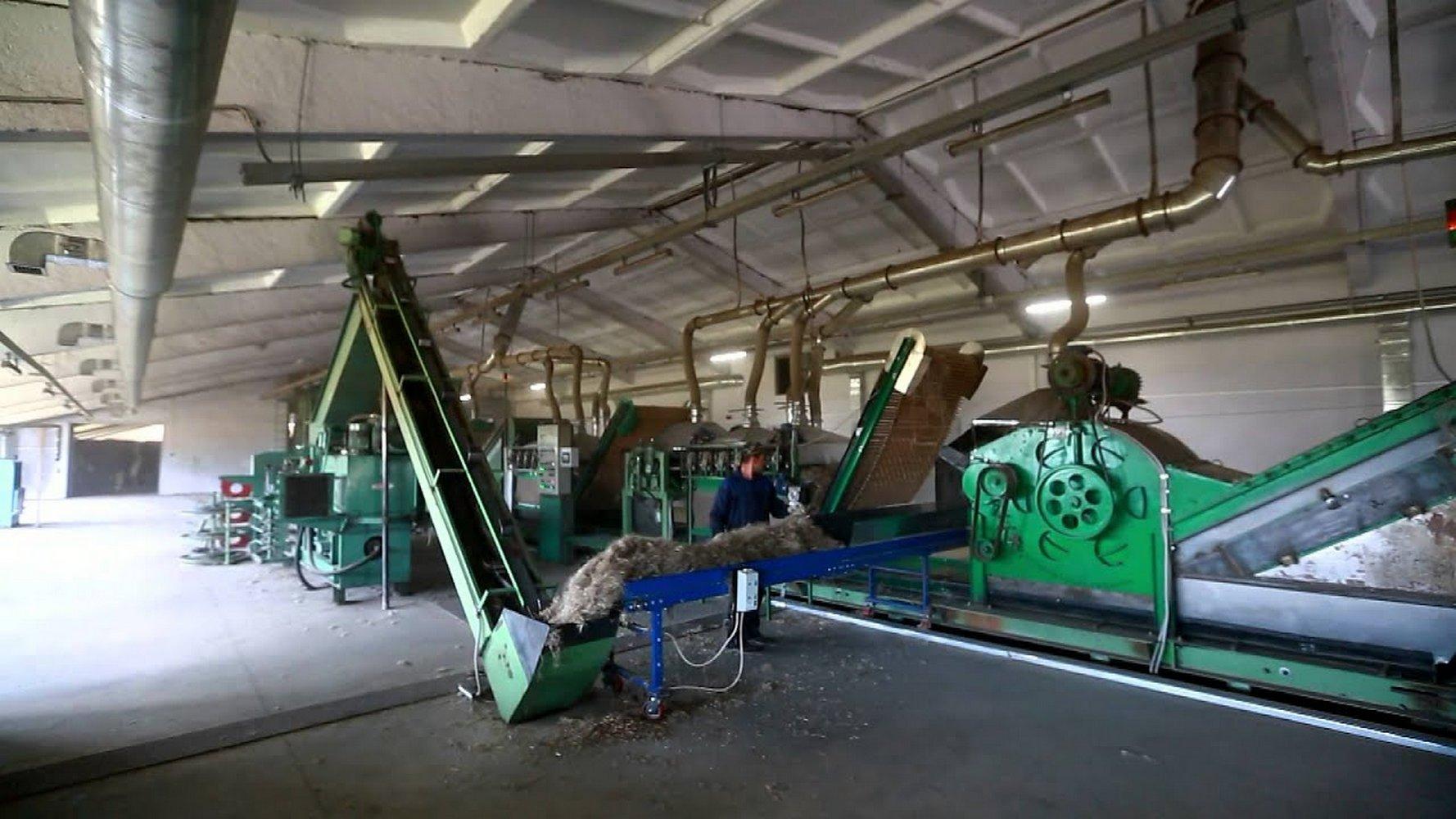 производство волокна из конопли