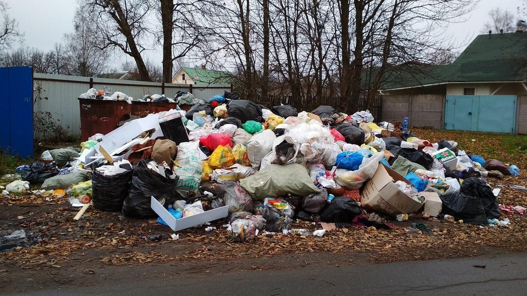свалка мусора с дачного участка