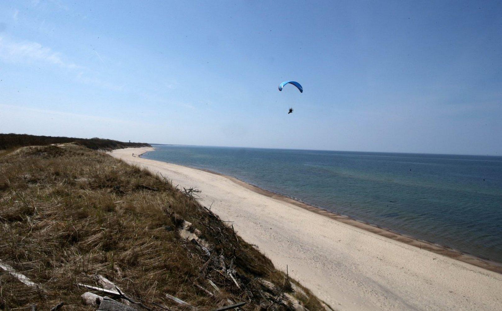 заброшенный пляж на балтийском море