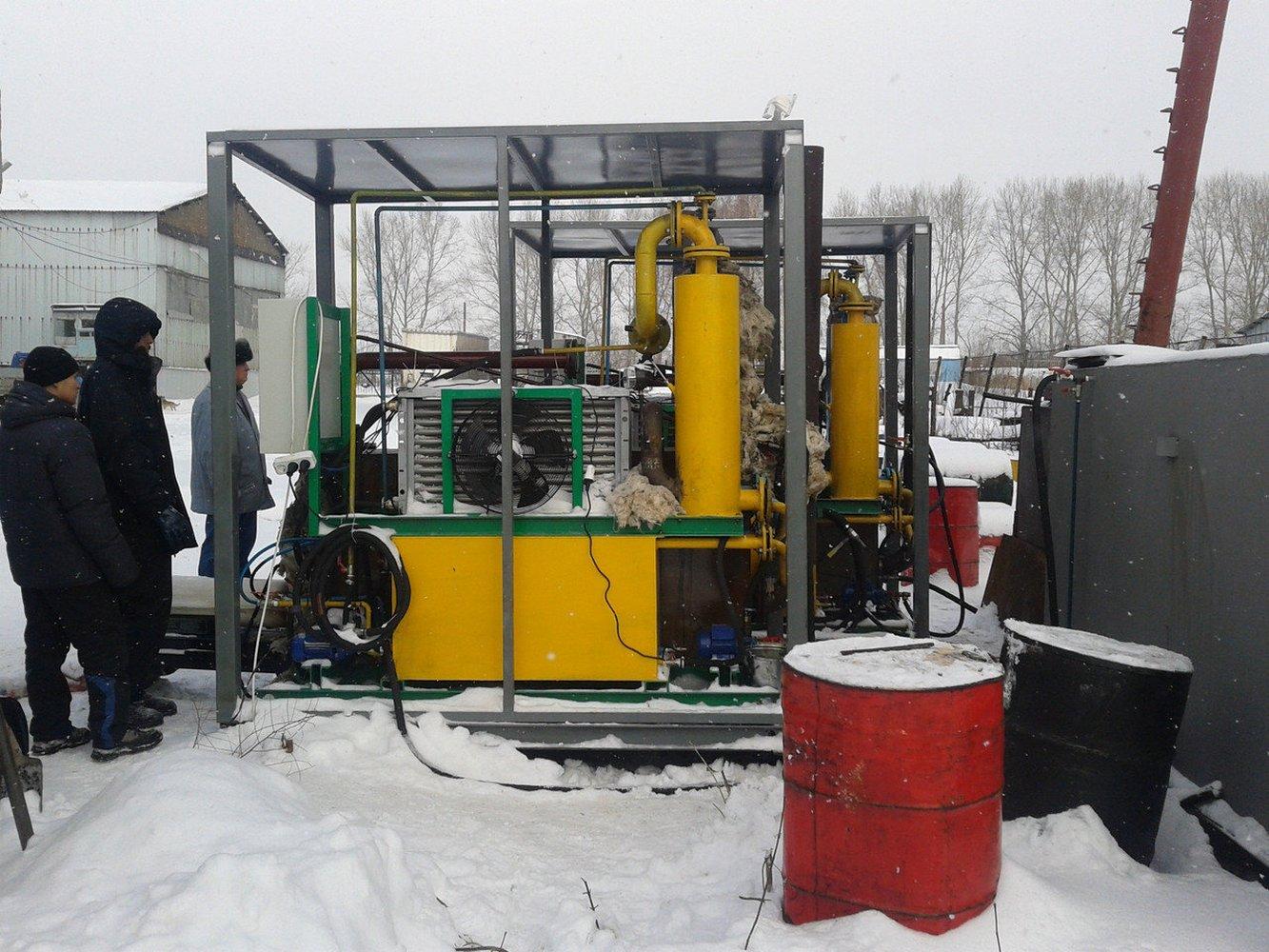 мини установка по переработке отработанного моторного масла