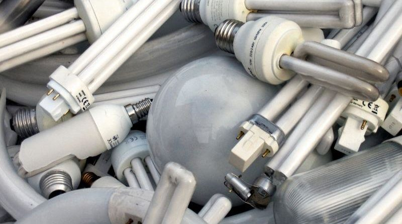 Хранение отработанных люминесцентных ламп