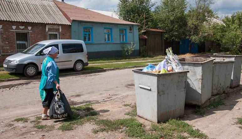 Вывоз мусора в деревне