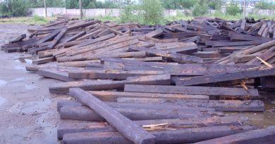 Отработанные шпалы подлежат утилизации