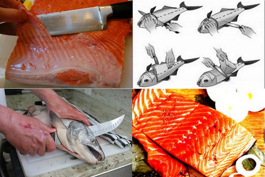 При разделке рыбы теряется часть сырья