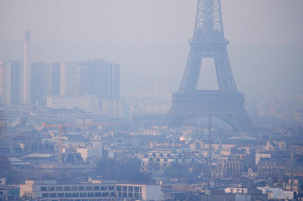 Загрязненный воздух Франции