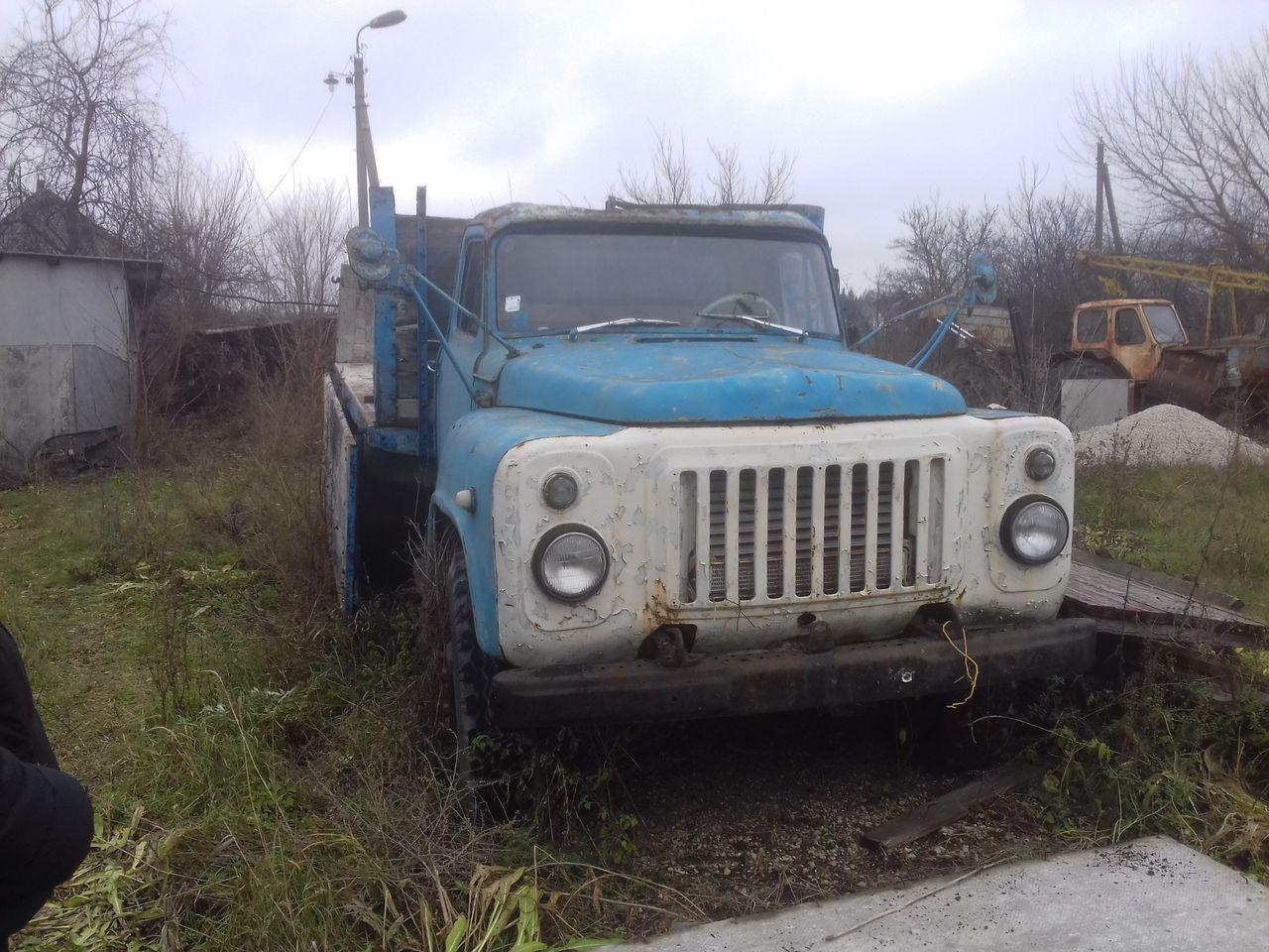 ГАЗ-53 при сдаче на металлолом