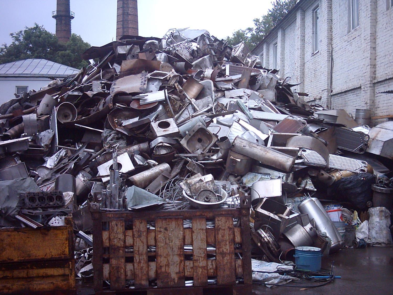 несортированный мусор с содержанием черных металлов