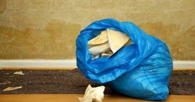 пакет со строительным мусором