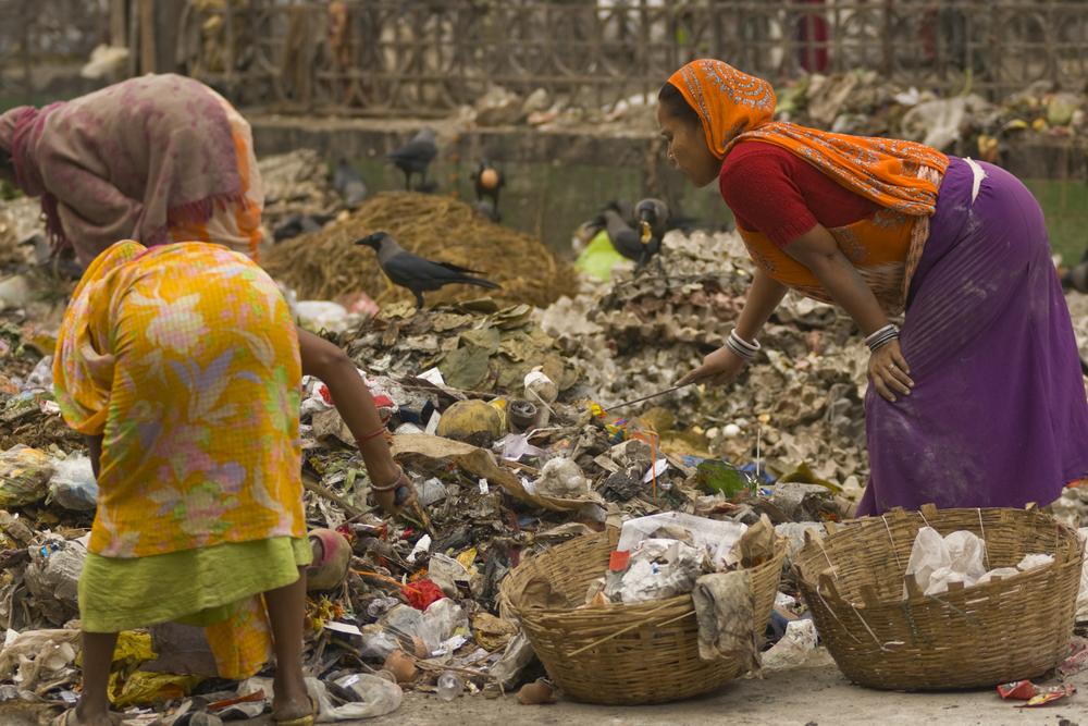Индийская каста по сбору мусора