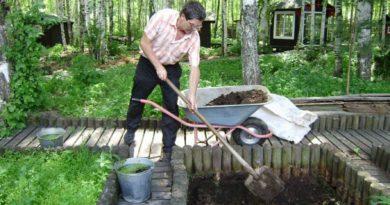 раскопка ямы для дождевых червей