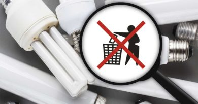 ртутные лампы нельзя размещать на полигоне ТБО