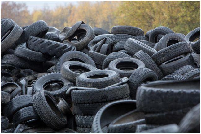 Старые шины подлежат переработке