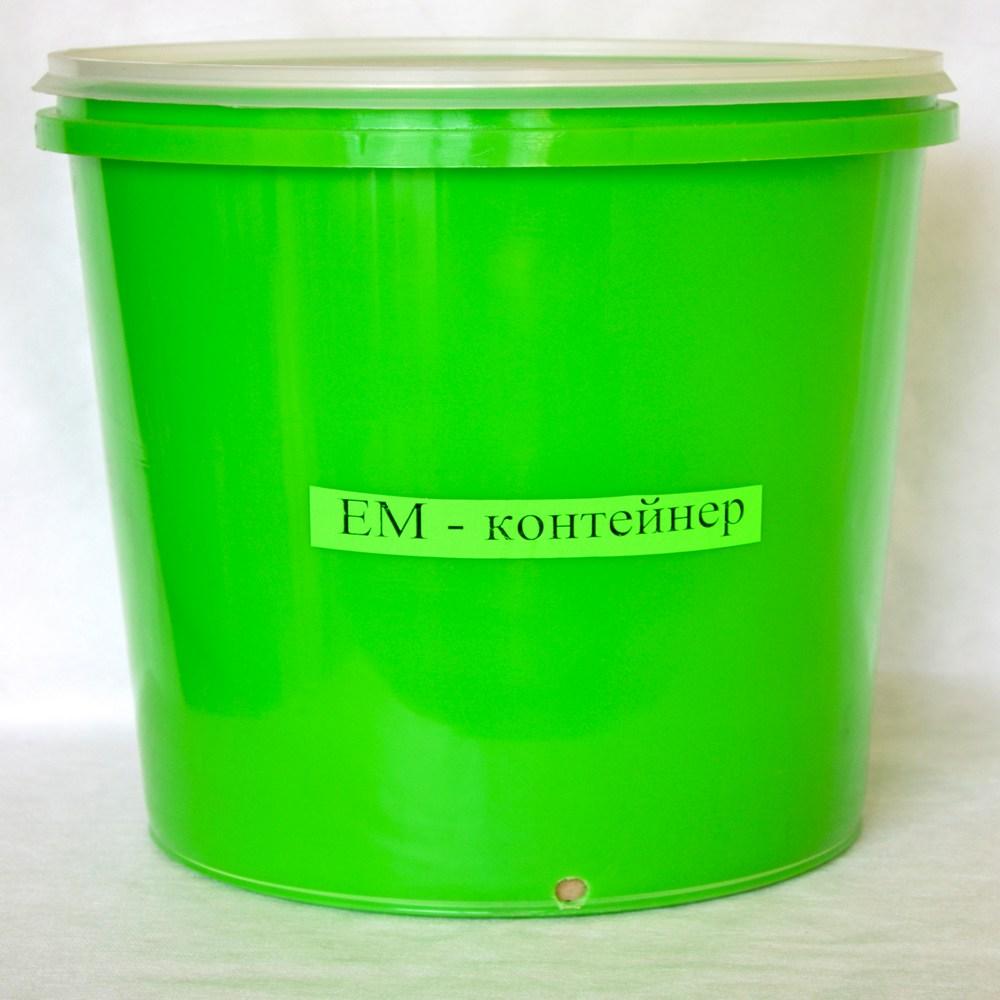 зеленый эм-контейнер