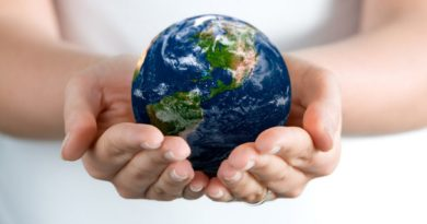 земной шар в ладонях
