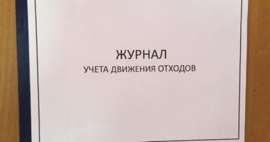 журнал для учета ТБО